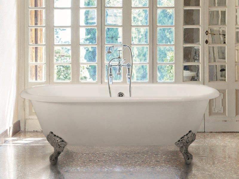 Vasca Da Bagno Ghisa Con Piedini : Violet vasca da bagno in ghisa by gentry home