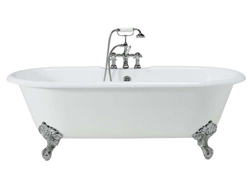 Classic style freestanding cast iron bathtub on legs VIOLET | Cast iron bathtub by GENTRY HOME