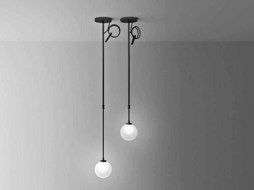 Opal glass pendant lamp BOCCIA | Pendant lamp by Boffi