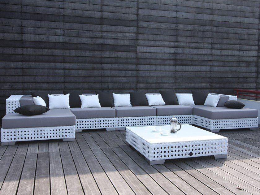 Sectional modular Sunbrella® sofa PORTO VECCHIO | Sectional sofa by Sérénité Luxury Monaco