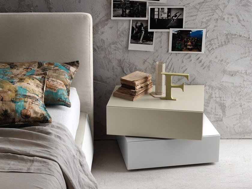 Contemporary style lacquered bedside table I-NIGHT SYSTEM INCLINART | Bedside table by Presotto