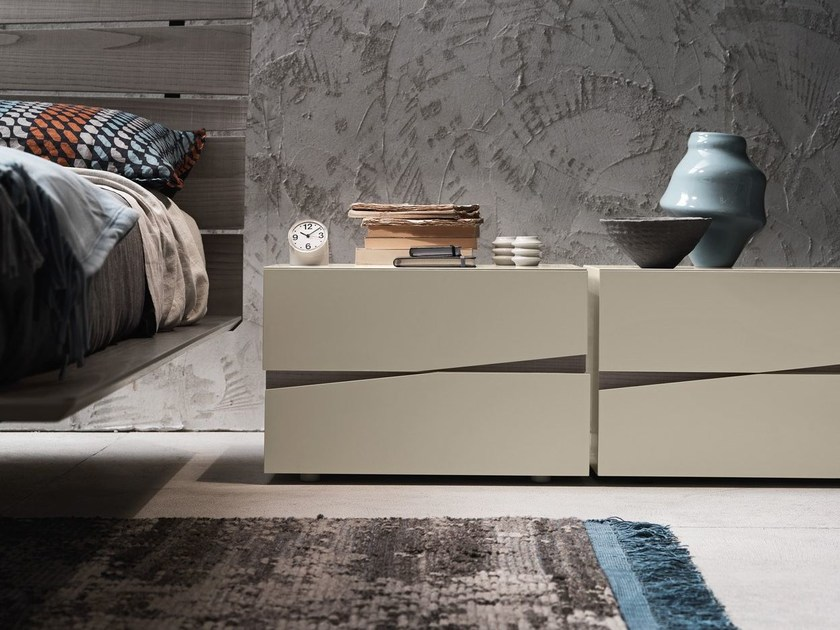 Contemporary style lacquered wooden bedside table JAZZ | Bedside table by Presotto