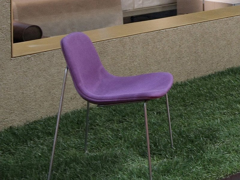 Sled base upholstered chair ARIANNA by ESTEL GROUP