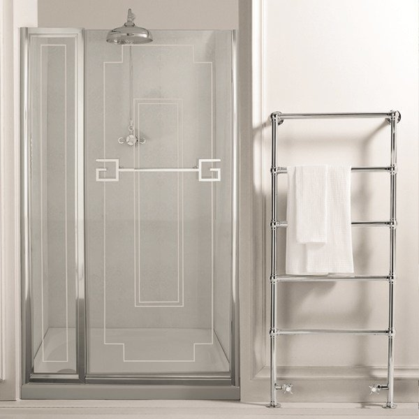 Glass shower cabin with hinged door ATHENA | shower enclosure fixed panel by GENTRY HOME
