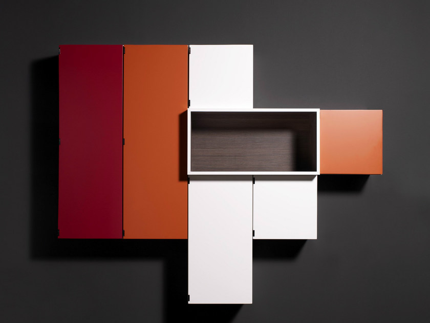 Sectional suspended bathroom cabinet TREVES by Boffi