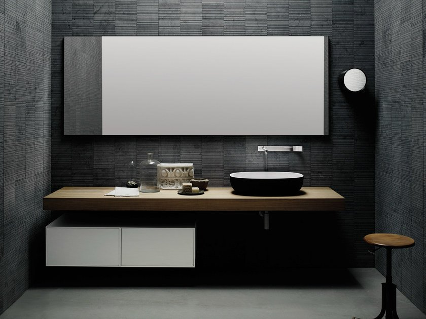 Contemporary style wooden washbasin countertop FLYER | Oak washbasin countertop by Boffi