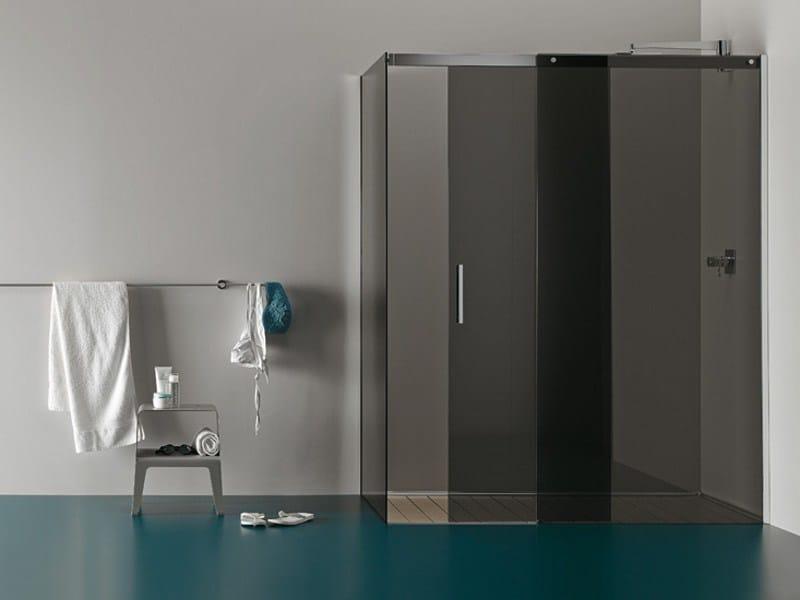 Box doccia angolare in vetro temperato con piatto RASO-FILODOCCIA ANGOLO by MEGIUS design Decoma ...