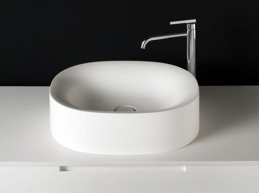 Oval Cristalplant® washbasin SABBIA   Countertop washbasin by Boffi