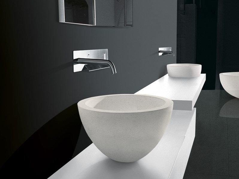Countertop stone washbasin I FIUMI | Stone washbasin by Boffi