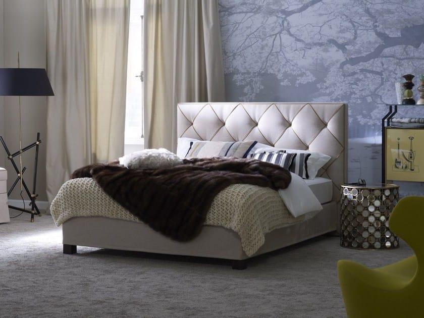 Double bed with tufted headboard Basis 18 + OPAL PLUS by Schramm Werkstätten