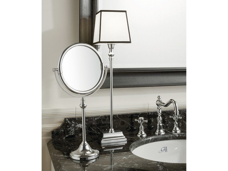 Round countertop shaving mirror KIRK | table mirror by GENTRY HOME