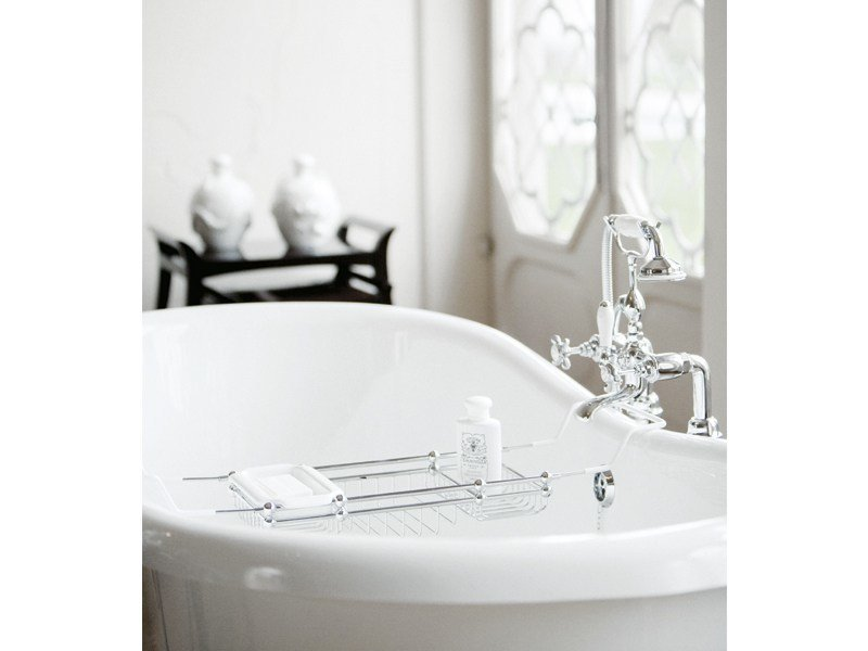 Countertop soap dish for bathtub ELLA | soap and sponge tray by GENTRY HOME