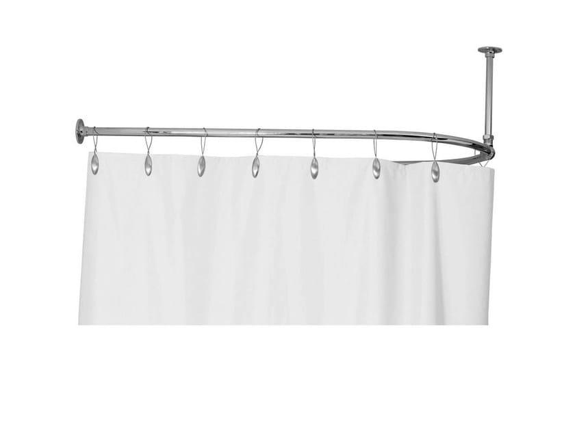 Bastone Per Tenda Vasca Da Bagno Angolare : Reggitenda a parete sopravasca supporto per tende doccia gentry home