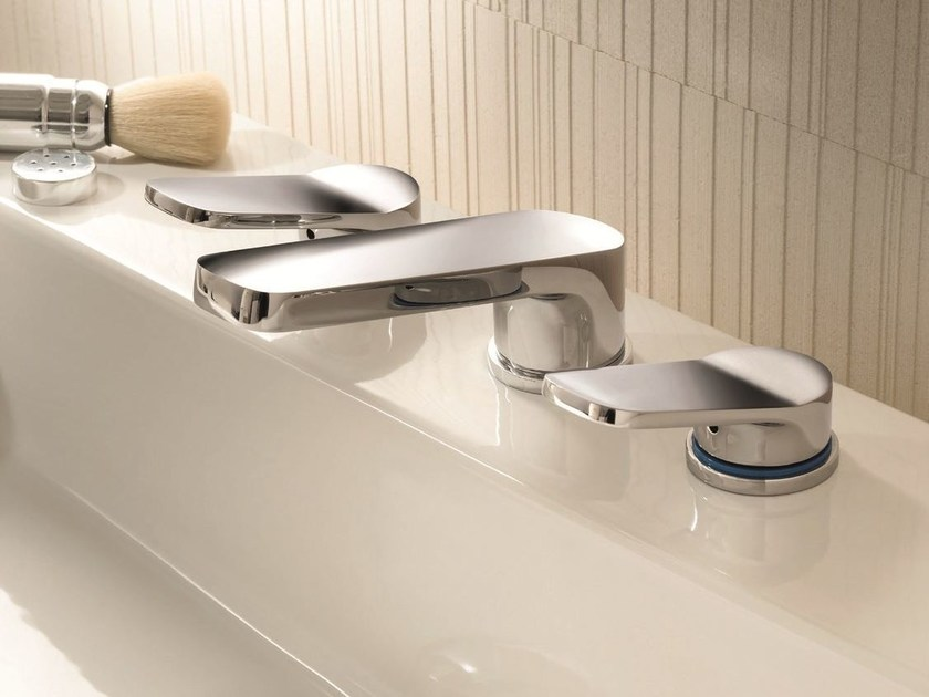 3 hole countertop washbasin tap LEVANTE | 3 hole washbasin tap by Fantini Rubinetti