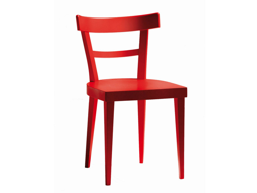 Lacquered beech chair CAFÈ | Lacquered chair by BILLIANI