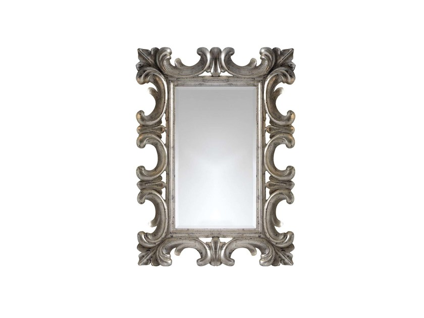 Rectangular wall-mounted framed mirror THEODORA by GENTRY HOME
