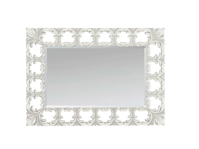 Wall-mounted framed mirror LOTUS MIRROR by GENTRY HOME