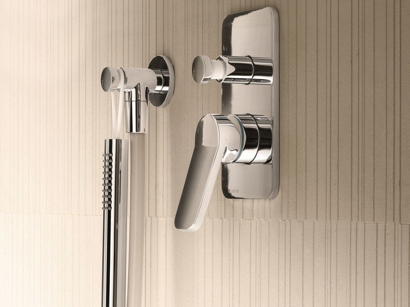Shower mixer with diverter with plate LEVANTE   Shower mixer with diverter by Fantini Rubinetti