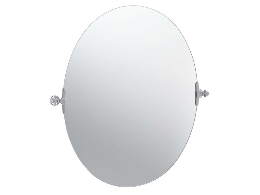 Tilting oval bathroom mirror QUEEN MIRROR by GENTRY HOME