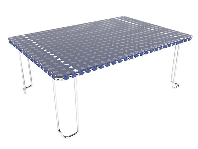 MIAMI Garden Side Table By Sérénité Luxury Monaco Design Laurent - Rectangular glass side table