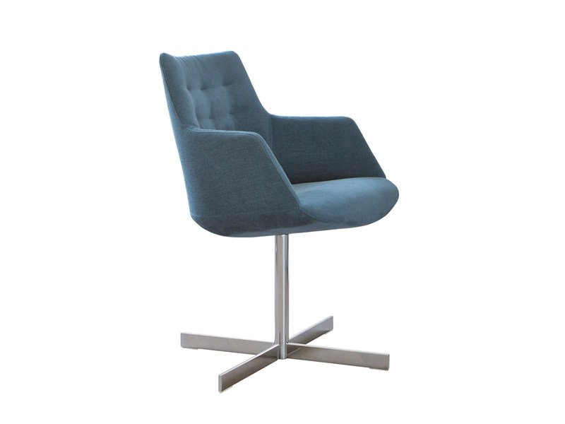 Upholstered chair with 4-spoke base with armrests DIVINA | Chair with 4-spoke base by ESTEL GROUP