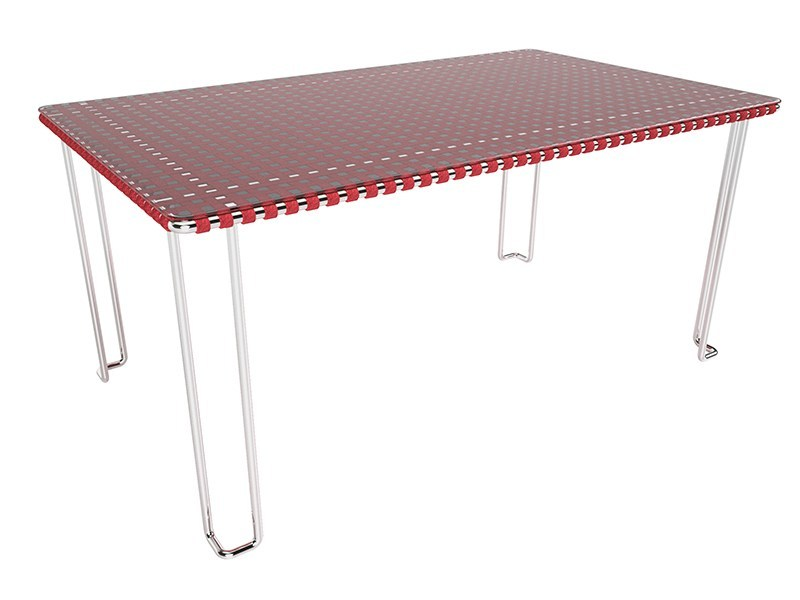 Glass and Stainless Steel garden table MIAMI | Garden table by Sérénité Luxury Monaco