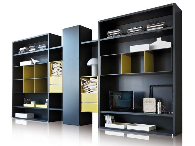 Sectional wooden shelving unit HABITAT | Sectional shelving unit by ESTEL GROUP