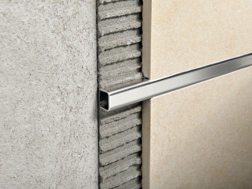 Glossy steel edge profile for walls PROLISTEL ACC | Glossy steel edge profile by PROGRESS PROFILES