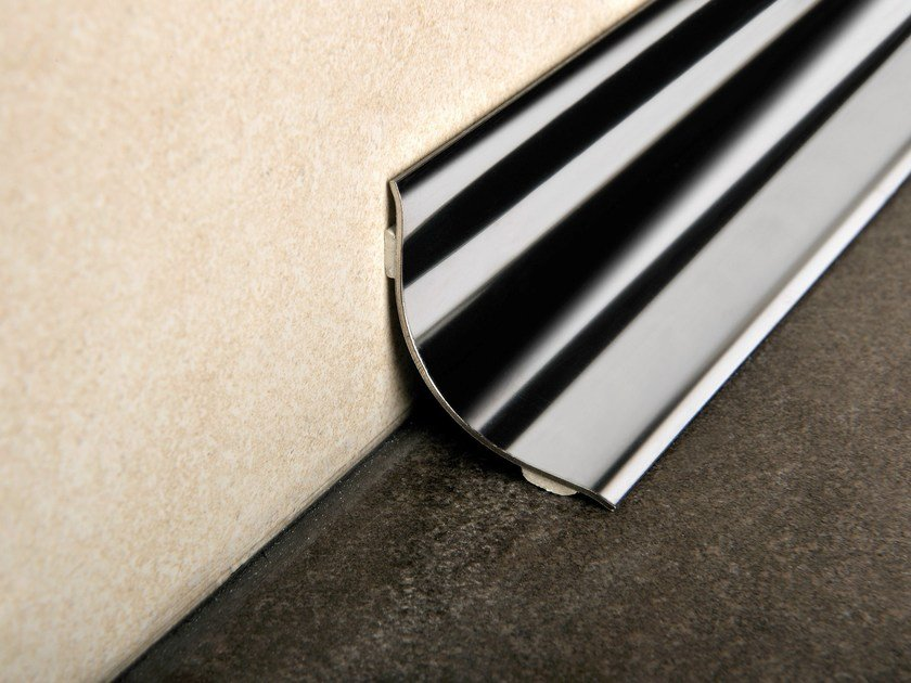 Antibacterial glossy steel edge profile PROROUND by PROGRESS PROFILES