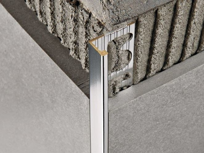 Antibacterial metal edge profile for walls PROTERMINAL   Chromed brass edge profile by PROGRESS PROFILES