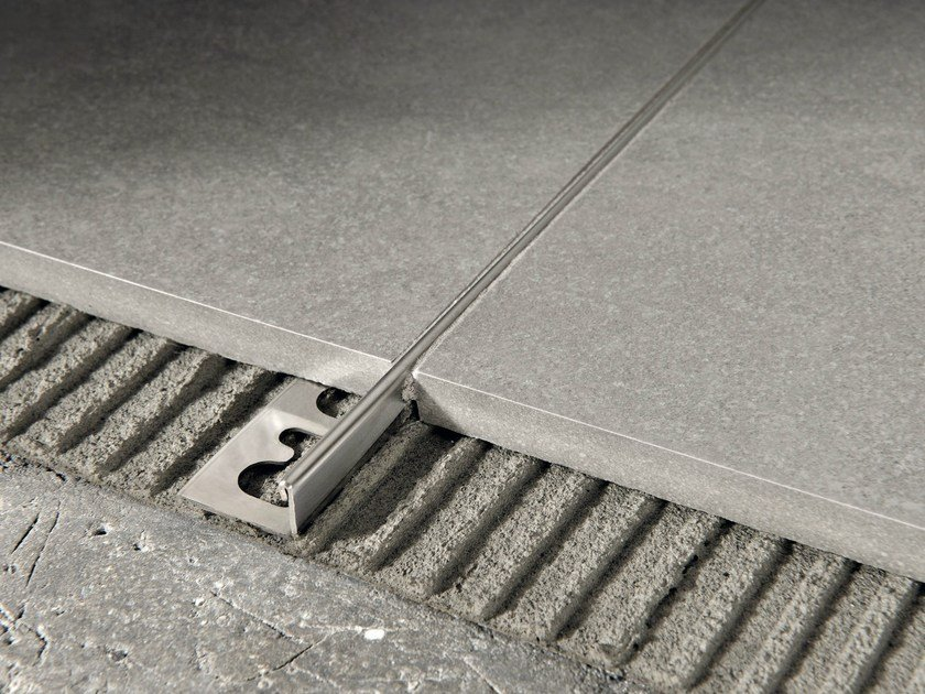 Brushed steel Flooring joint PROTERMINAL | Brushed steel Flooring joint by PROGRESS PROFILES