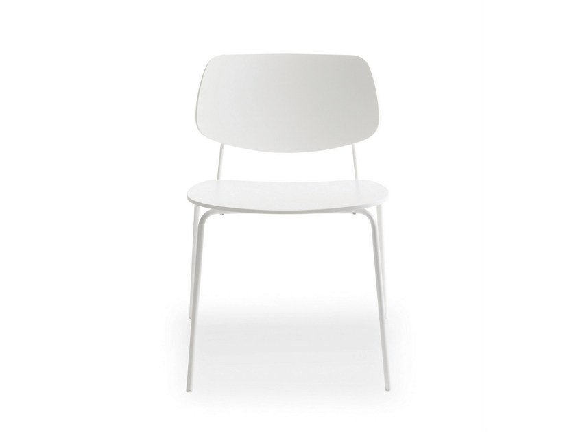 Stackable lacquered chair DOLL STEEL | Chair by BILLIANI