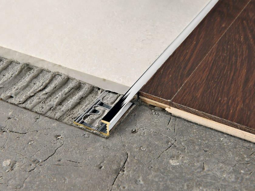 Chromed brass Flooring joint PROELEGANT | Chromed brass Flooring joint by PROGRESS PROFILES