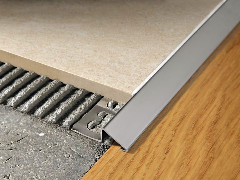 Glossy steel edge profile for floors PROSLIDER | Glossy steel edge profile by PROGRESS PROFILES