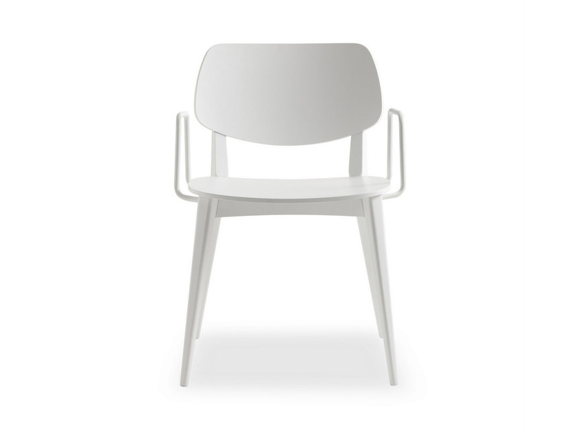Lacquered wooden chair with armrests DOLL WOOD | Chair with armrests by BILLIANI