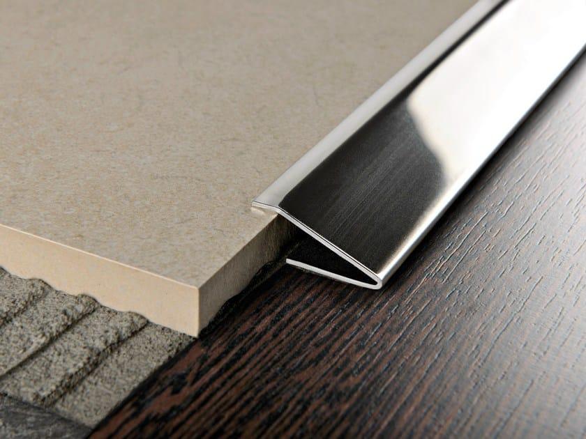 Glossy steel edge profile for floors PROPRESS 712 by PROGRESS PROFILES