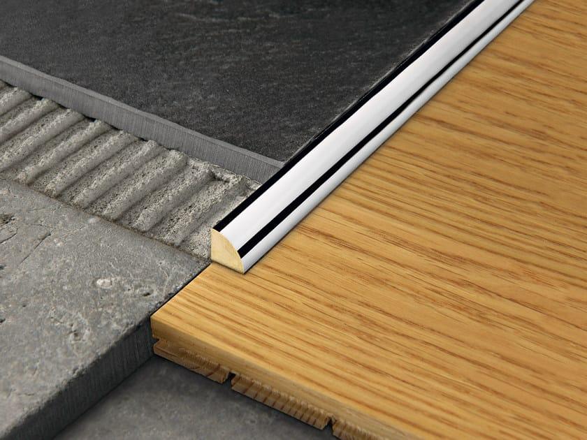Chromed brass edge profile for floors PROANGLE by PROGRESS PROFILES