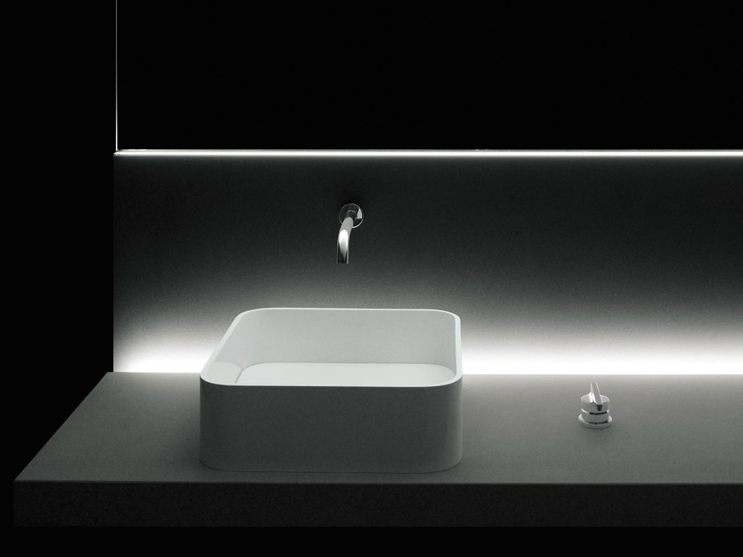 Countertop single washbasin PIANURA   Countertop washbasin by Boffi