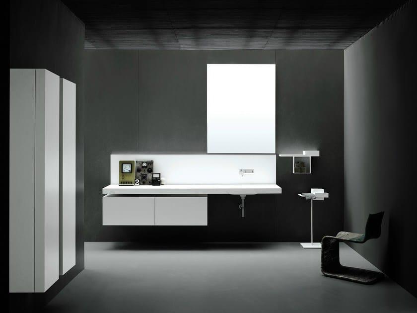 Washbasin with integrated countertop PIANURA | Washbasin with integrated countertop by Boffi