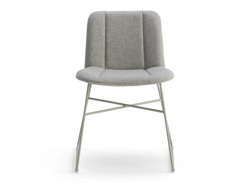Sled base fabric chair HIPPY | Sled base chair by BILLIANI