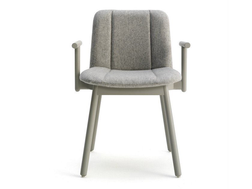 Fabric chair with armrests HIPPY | Chair with armrests by BILLIANI