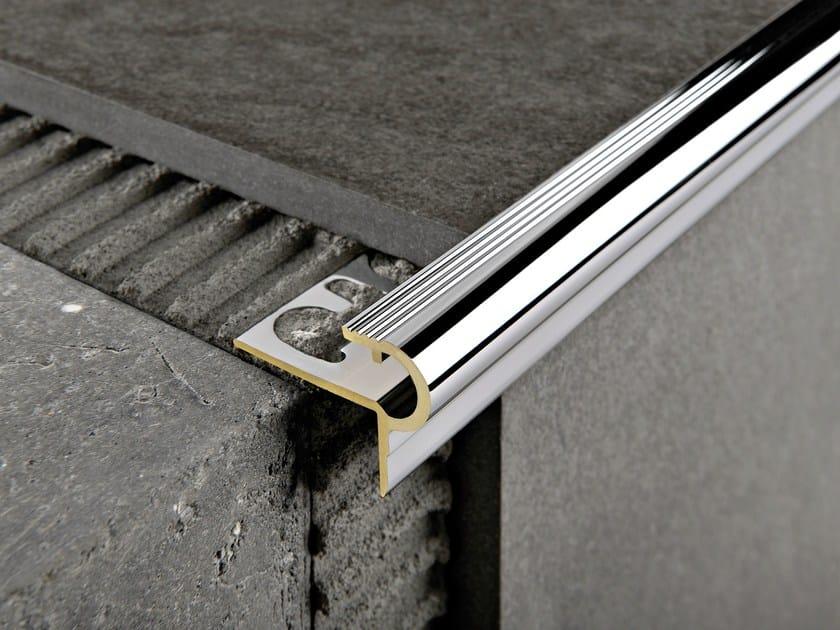 Chromed brass Step nosing PROSTYLE by PROGRESS PROFILES