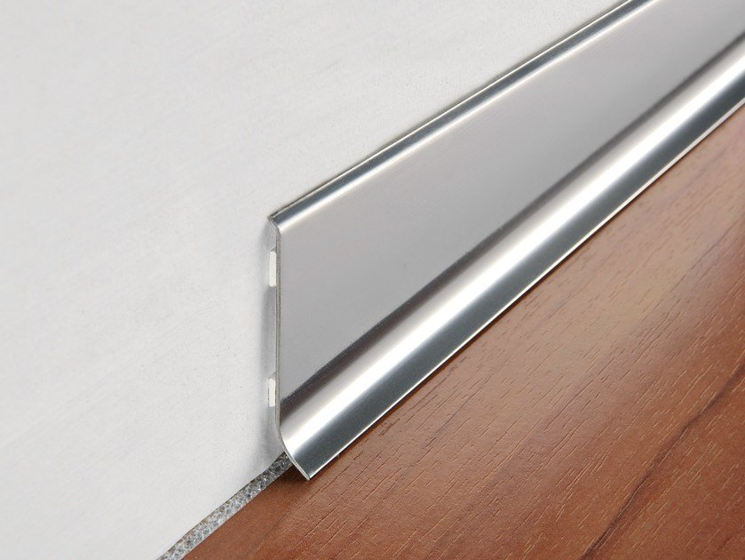 Glossy steel Skirting board SKIRTING 60 by PROGRESS PROFILES