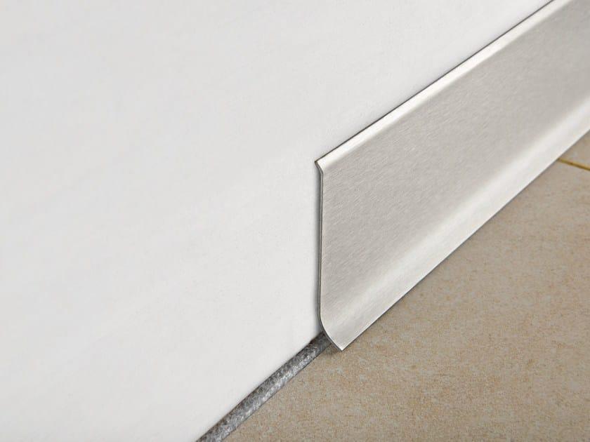 Brushed steel Skirting board SKIRTING 60 by PROGRESS PROFILES