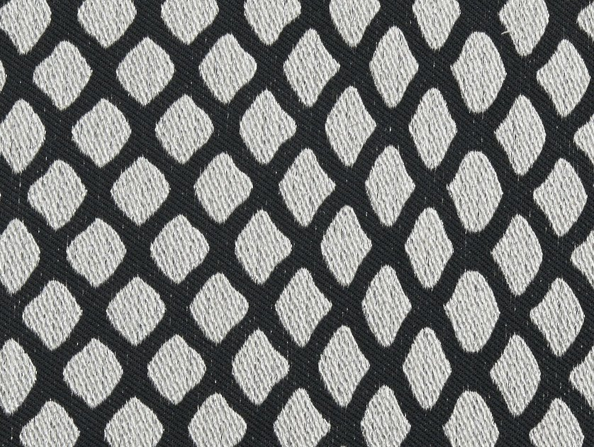 Pique fabric with graphic pattern CAVIAR by Aldeco