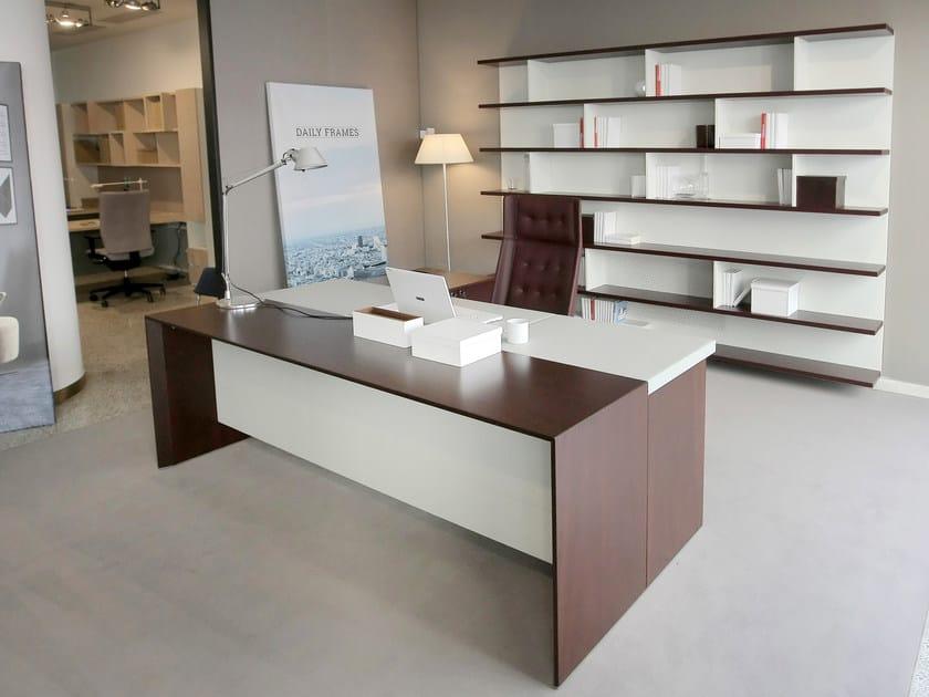 Rectangular wooden executive desk SAN MARCO by ESTEL GROUP