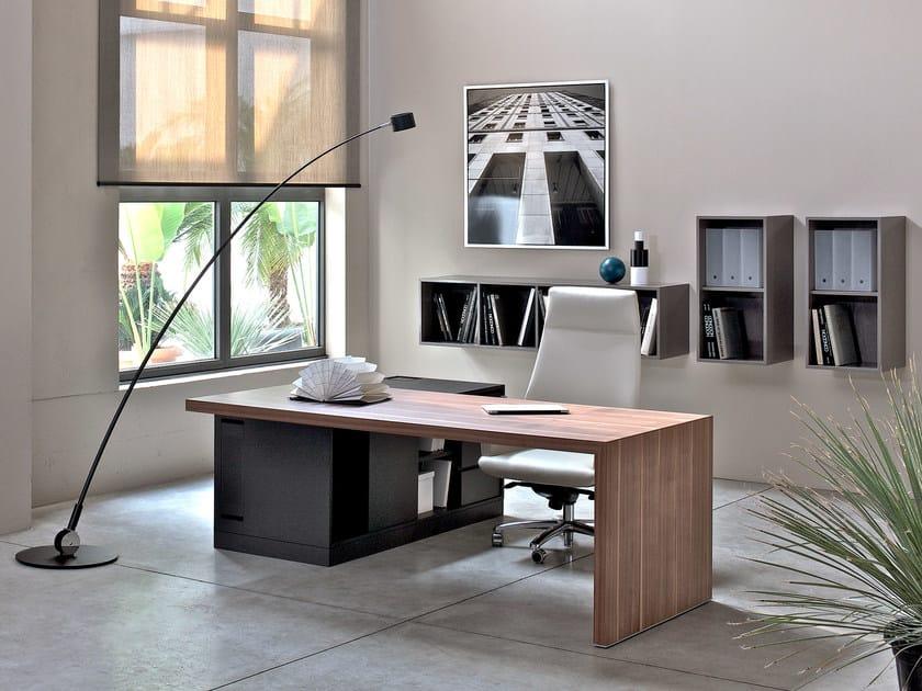 Rectangular wooden executive desk SAN POLO by ESTEL GROUP