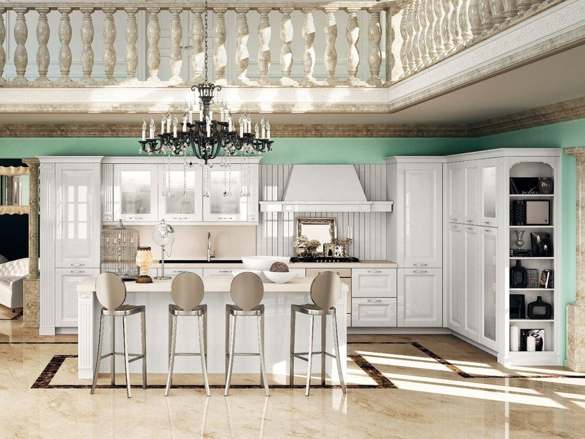 Classic style fitted kitchen deruta by del tongo