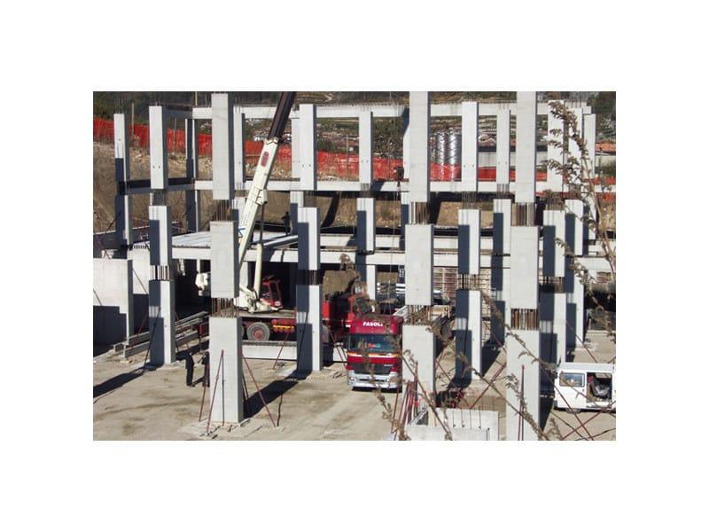 Precast reinforced concrete structural component Sistema pluripiano iperstatico by APE