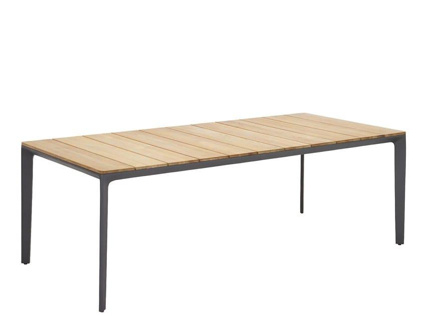 Rectangular garden table CARVER | Garden table by Gloster